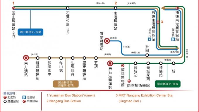 國光客運【1877】圓山-烏石港路線