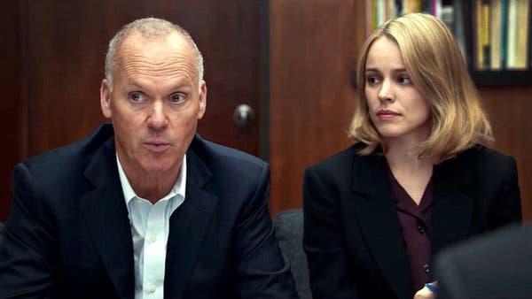 """Michael Keaton ve Rachel McAdams, """"Spotlight"""" da."""