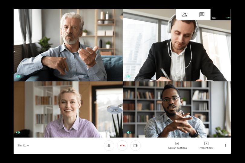 Videollamada cara a cara con Google Workspace y Google Meets