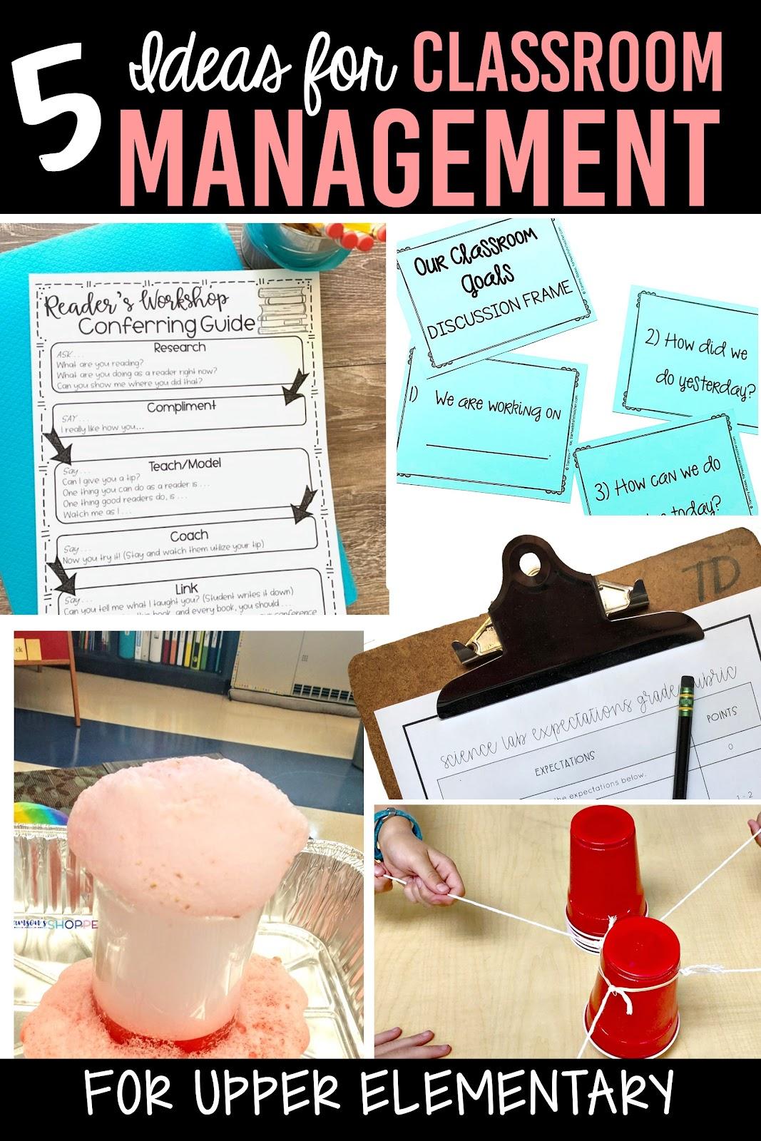 classroom management tips upper elementary