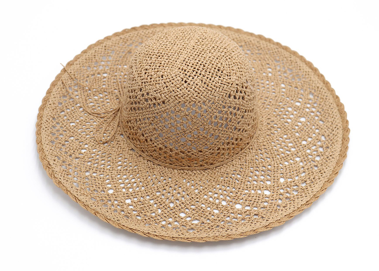 Paper Straw Sun Hat with String Tie