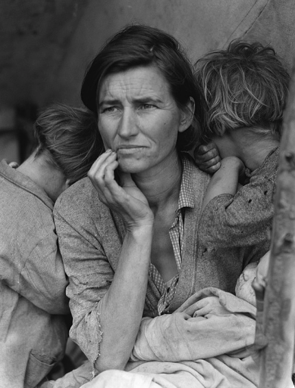 great depression photo of mother
