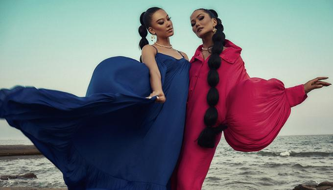 Chiến binh Hoàn vũ HHen Niê - Kim Duyên hóa chị em sinh đôi, đọ dáng bất phân thắng bại