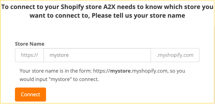 A2X sign up step
