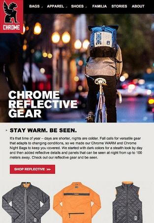 Chrome Industries - Email Marketing Campaign