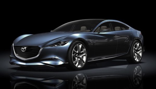 คันต้นแบบของรุ่น Mazda6 แบบเต็มๆ หน้าตาจะออกประมาณนี้
