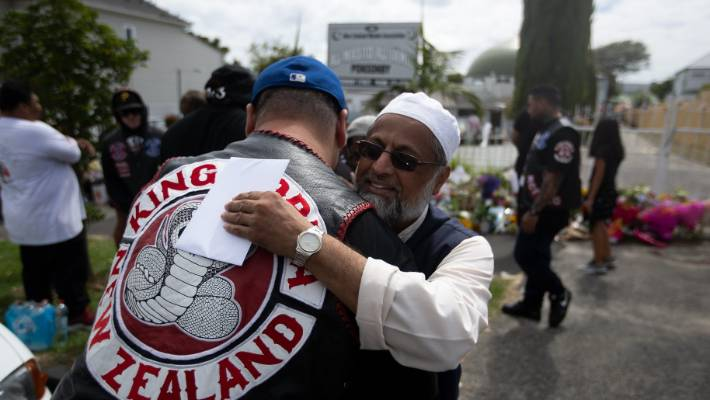 Image result for gang members going to christchurch