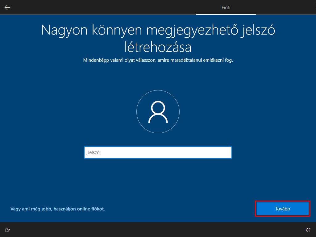windows_telepitese_jelszo
