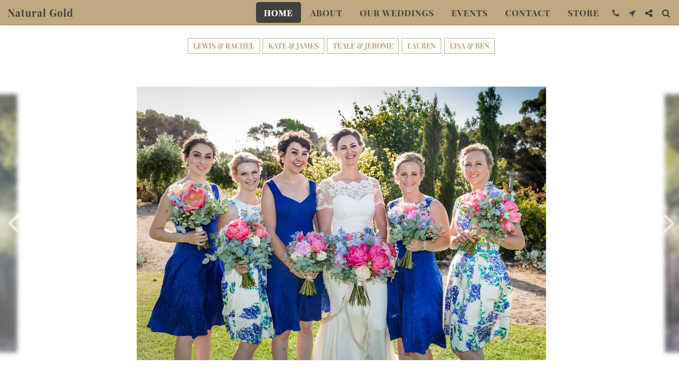 Natural Gold - Your wedding flower specialist