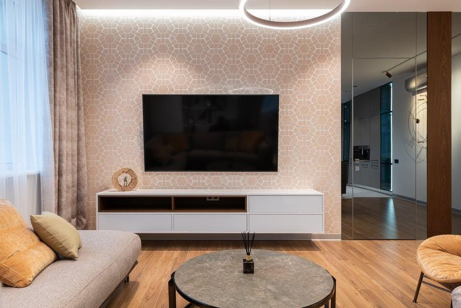 TV display on the wall living room decoration