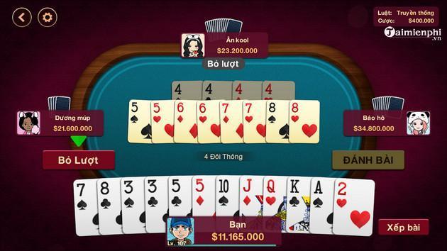 Top game bài Tiến lên nhiều người chơi trên điện thoại