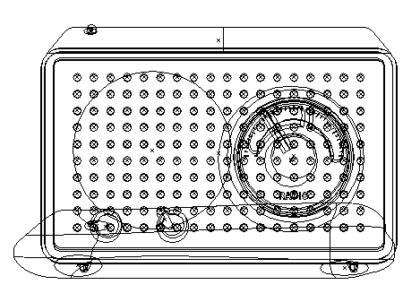 Retro Radio Illustration Outline