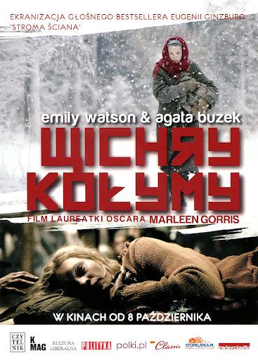 Przód ulotki filmu 'Wichry Kołymy'