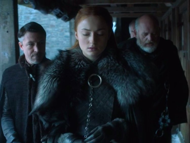 The scene with Sansa ruling in Winterfell made a point to remind the audience that Maester Luwin kept records of every scroll.