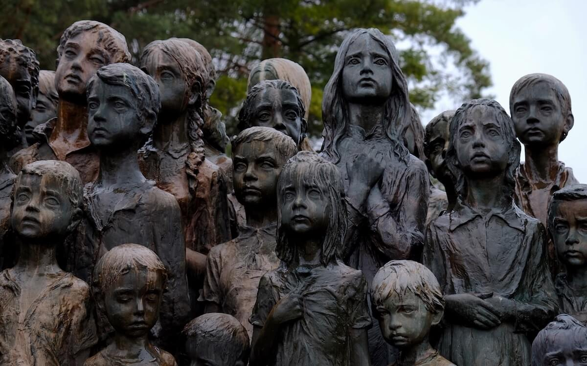 Lidice Memorial. Photo from: https://culturaobscura.com/a-haunting-visit-to-the-lidice-museum-and-memorial/