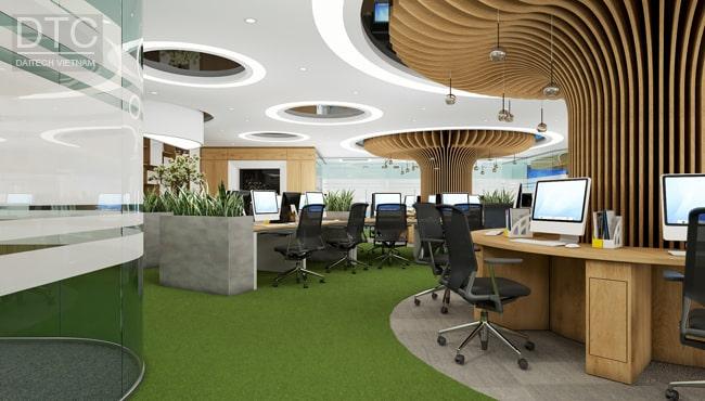 Đây là mẫu thiết kế văn phòng rất phù hợp với công ty có đối tác là người nước ngoài