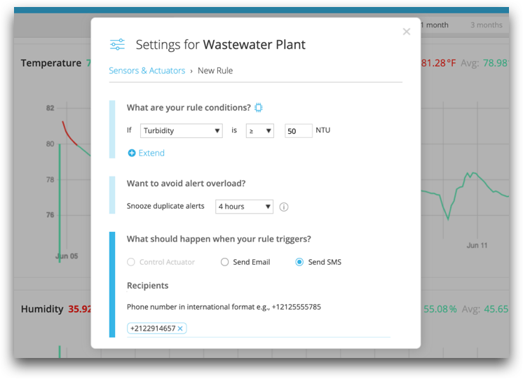 Setting up rules for your wastewater treatment plant with the Kosmos IoT System