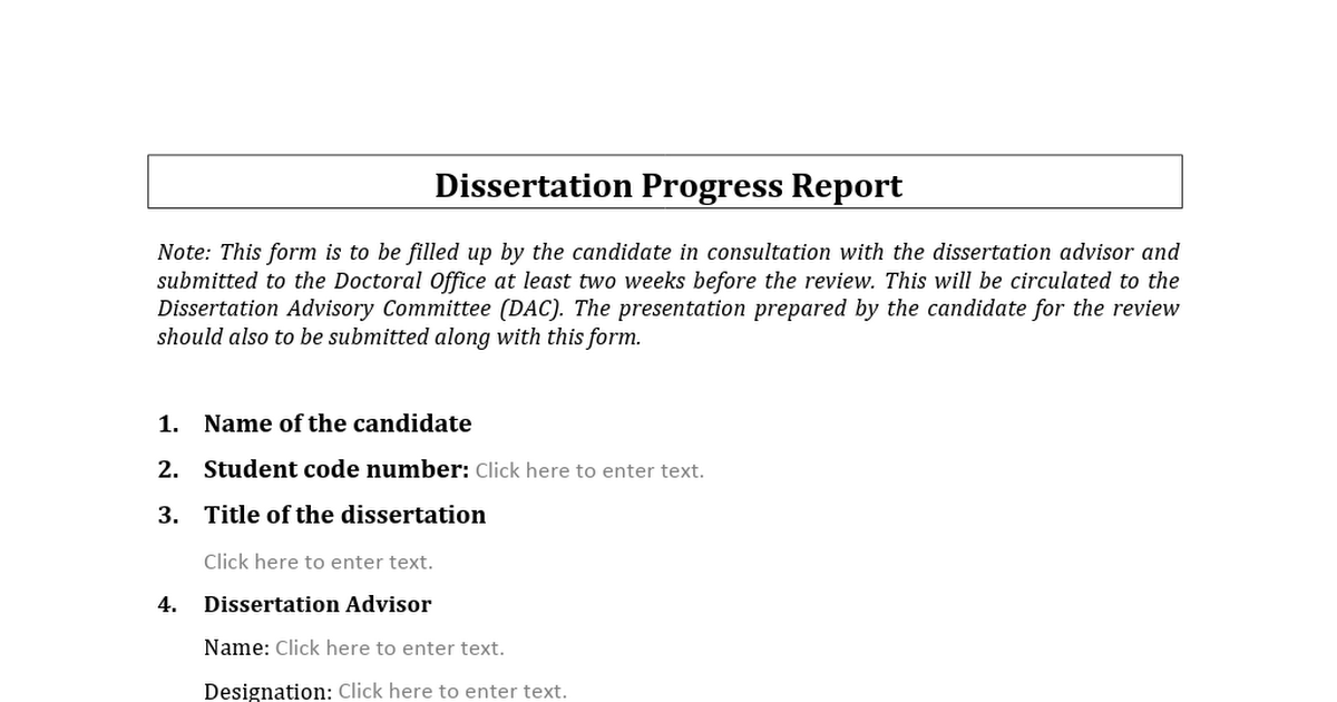 Dissertation progress report pay for research paper