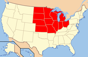 Image result for mid west states