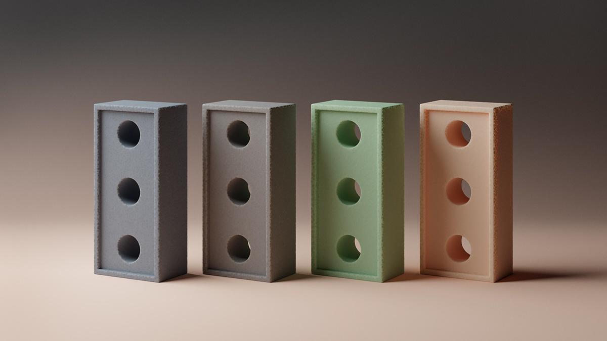 3D abstract blender CGI lighting material polystyrene Procedural Render surrealism