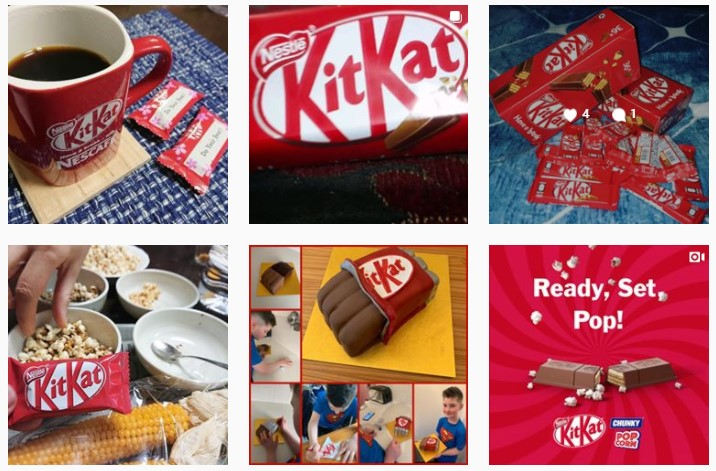 KitKat Visual Content examples