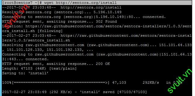 Install Sentora on CentOS 7(3)