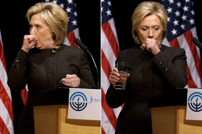 Billedresultat for hillary coughing