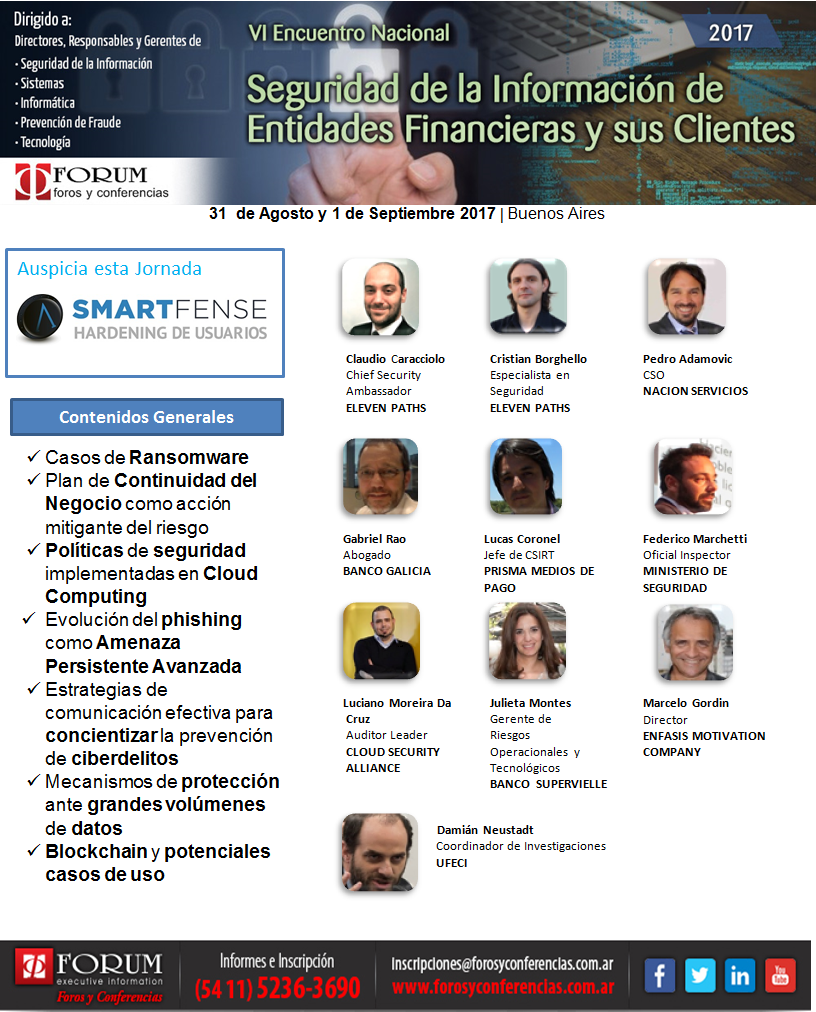 VI Encuentro Nacional sobre Seguridad de la Información de Entidades Financieras y sus Clientes