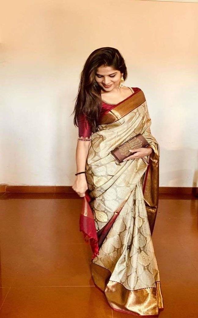 Kanjivaram Saree Blouse Design for South Indian Wedding