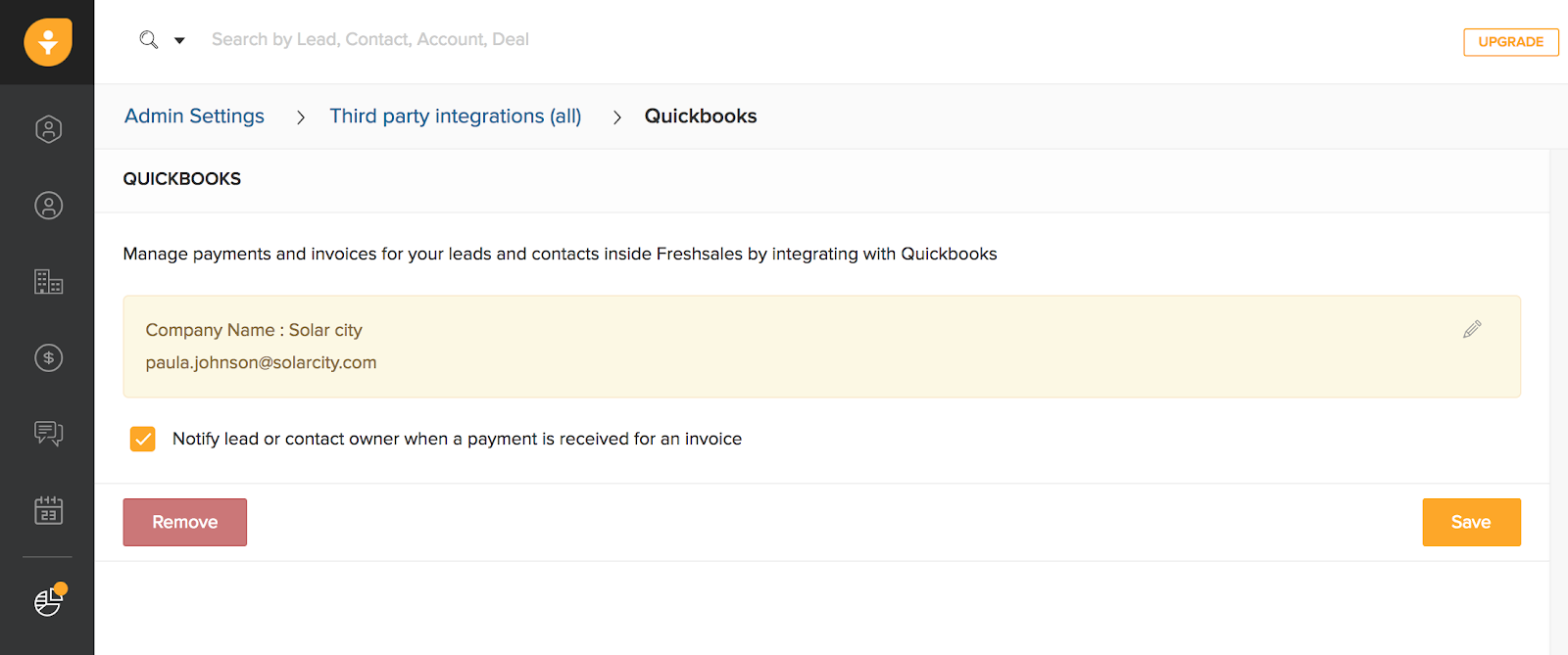 Quickbooks Integration Freshsales - Quickbooks invoice installments