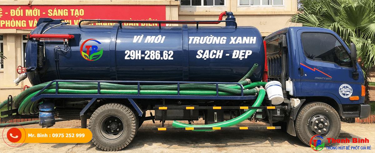 dịch vụ hút bể phốt, cầu giấy, Công ty Thanh Bình
