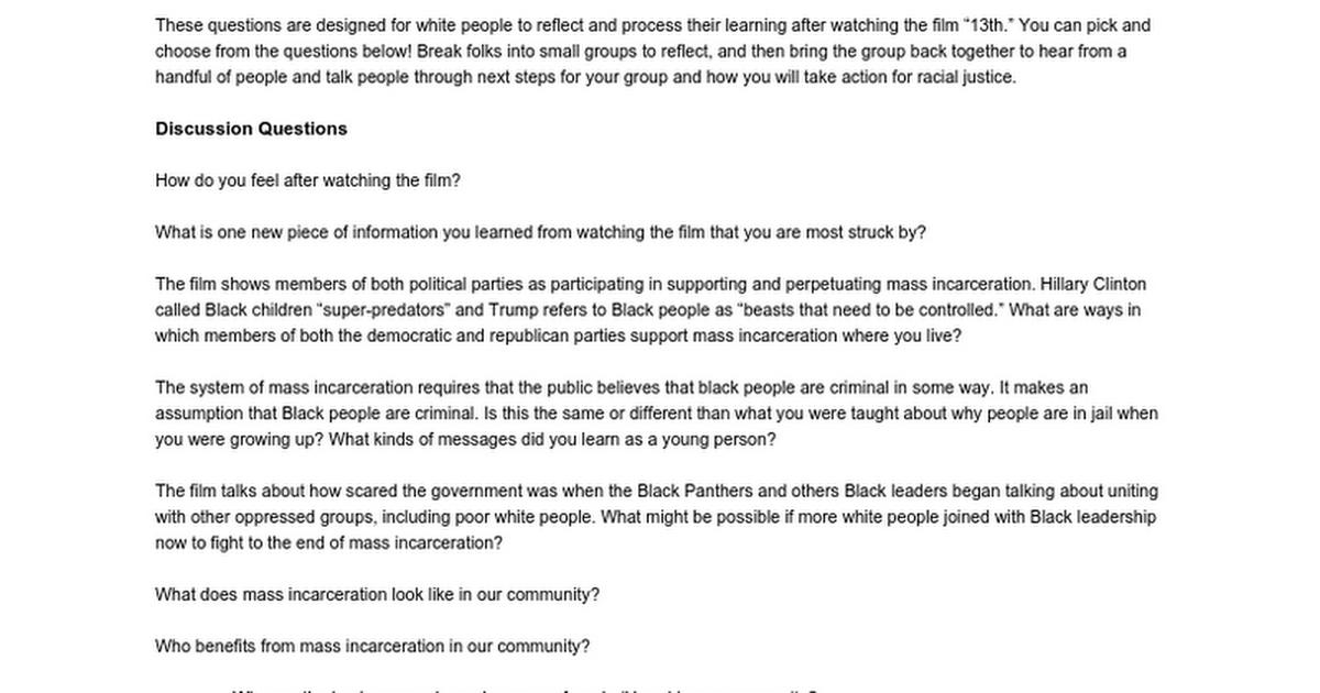 13th SURJ Discussion Guide