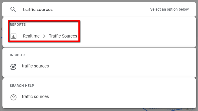 google analytics intelligence showing reports over insights.