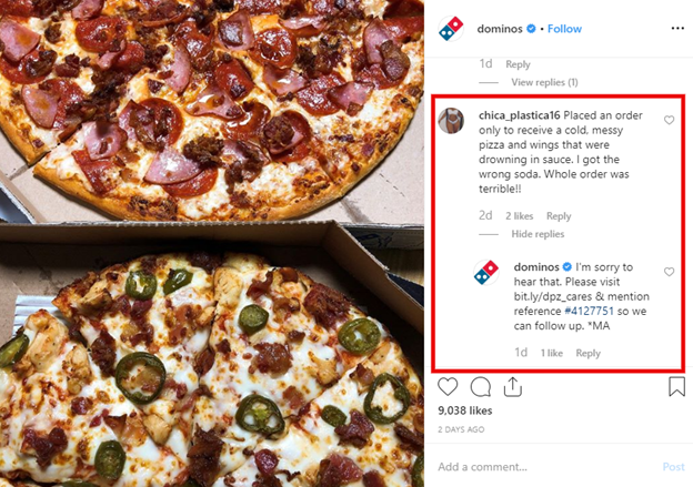 Domino's pizza to improve brand reputation