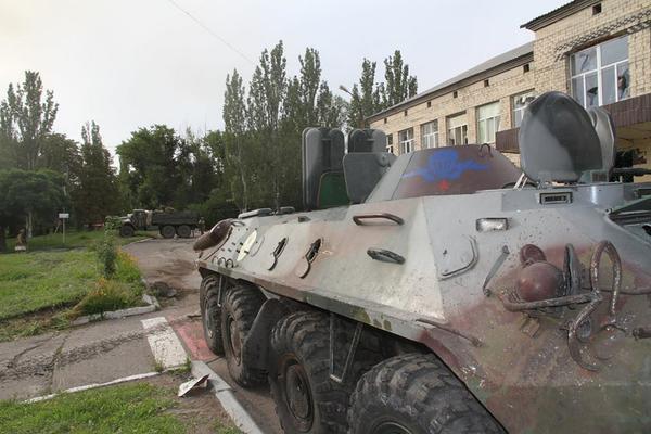 Захваченная техника противника в Джзержинске