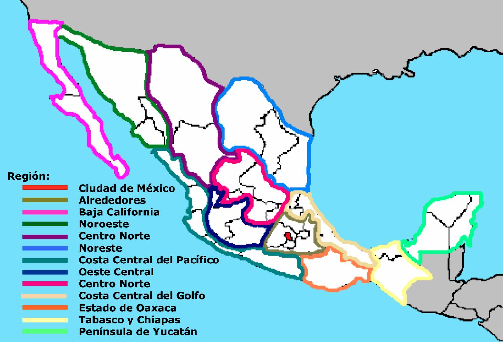 Regiones Turísticas de México