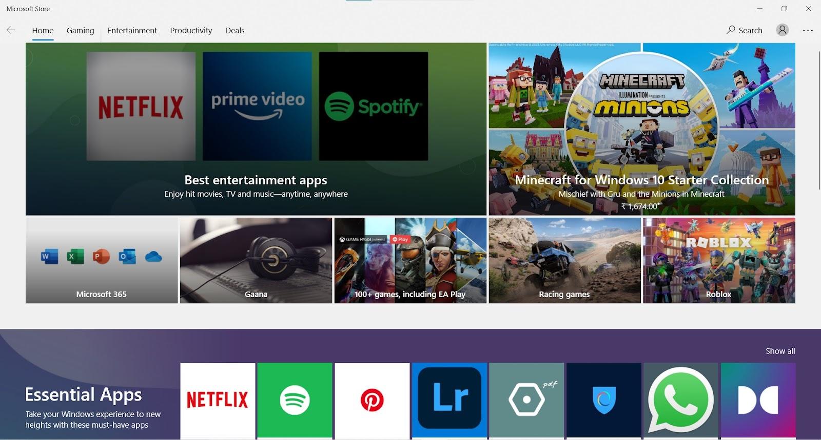 Microsoft Store window