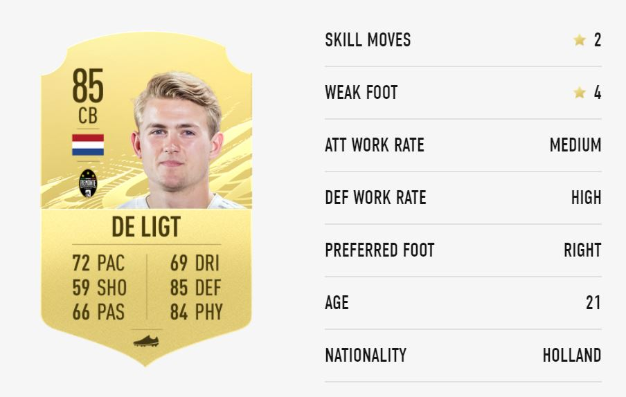 FIFA 21 De Ligt