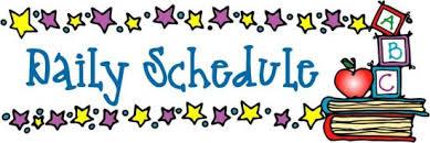 Daily Schedule Clip Art