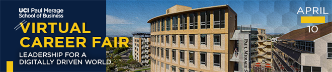 UCI Merage School of Business Virtual Career Fair Banner