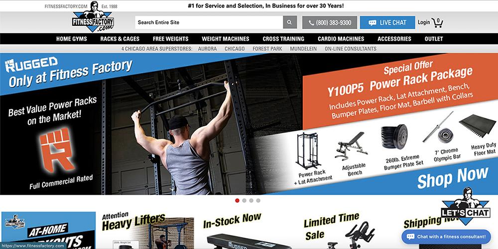 Fitness Factory Website Screenshot