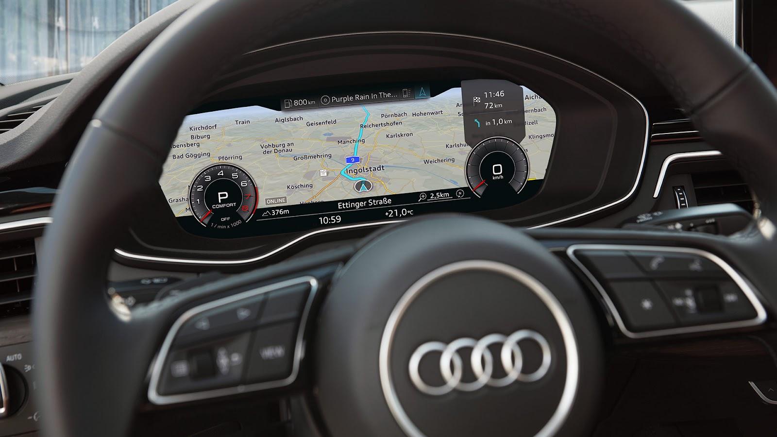 Виртуальная приборная панель Audi A7 Audi virtual cockpit