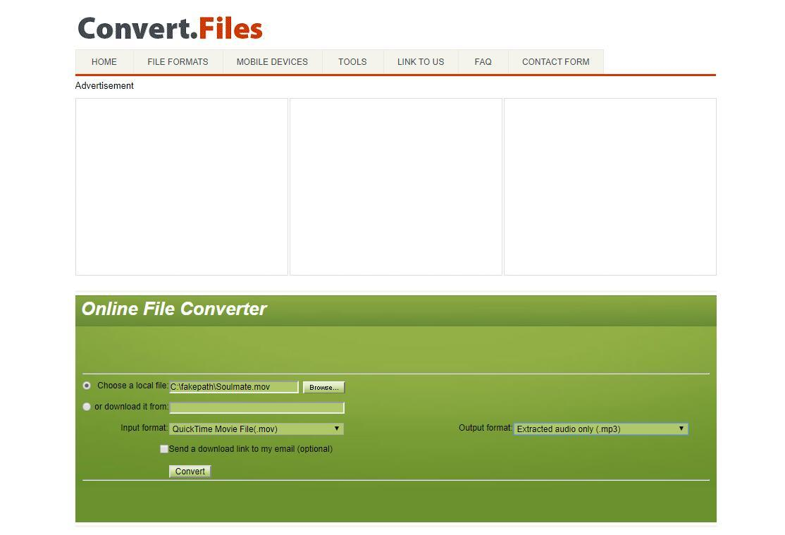 the interface of Convert.Files