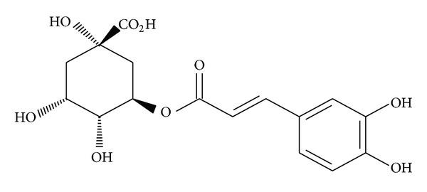 Image result for Chlorogenic acid chemical structure