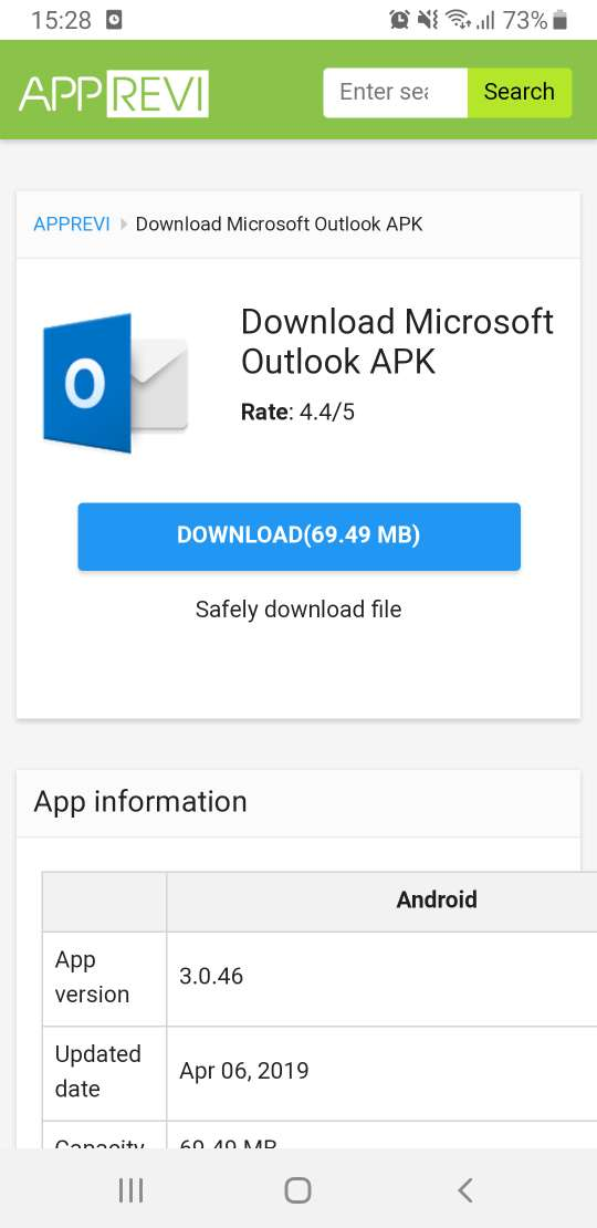 download microsoft outlook apk