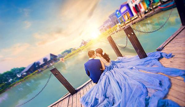 chụp ảnh cưới ở smiley ville
