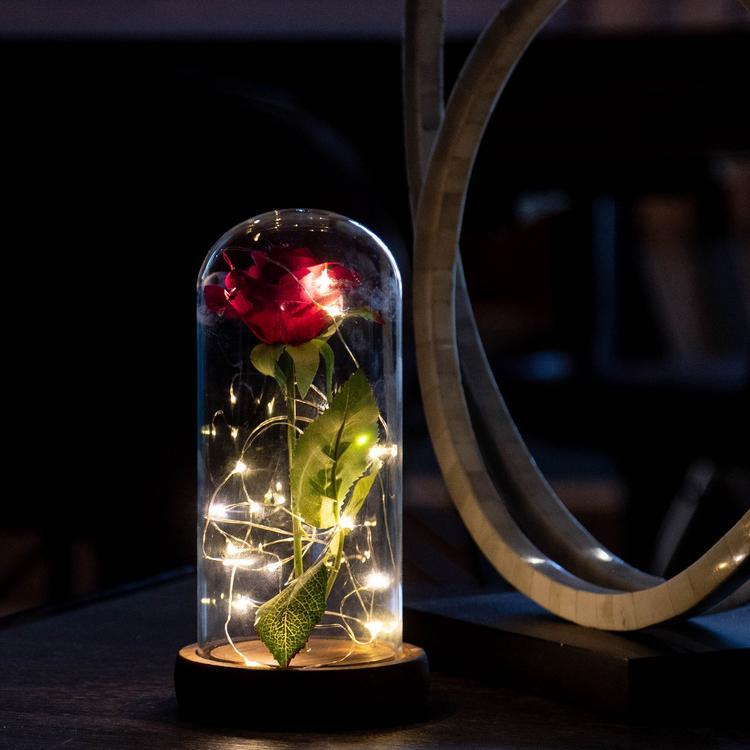 Inspire Uplift Enchanted Rose Flower Lamp