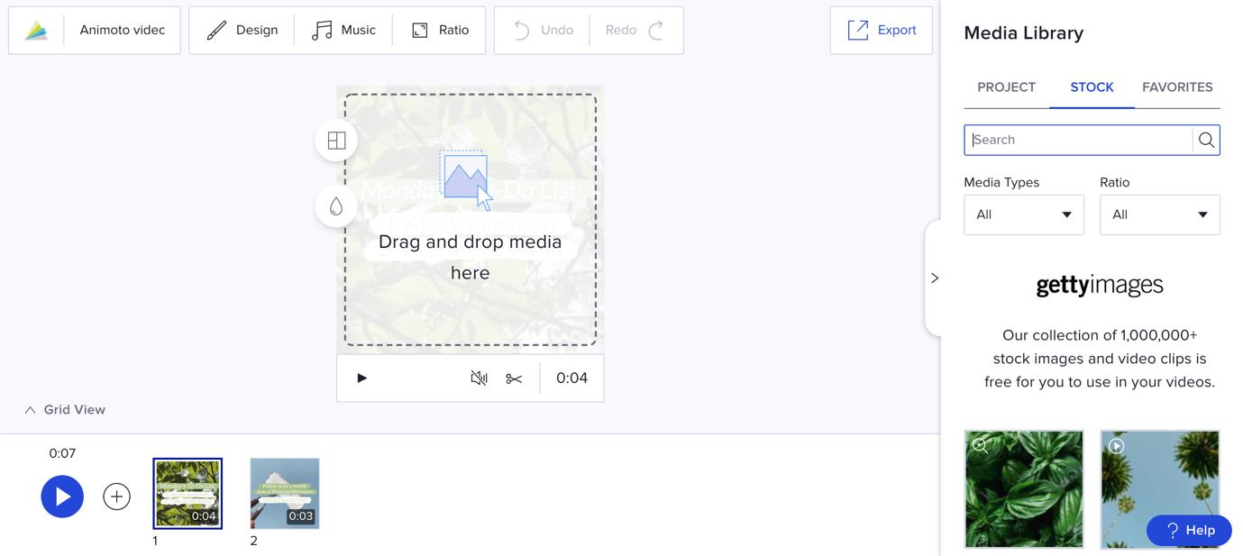 video editor upload media animoto