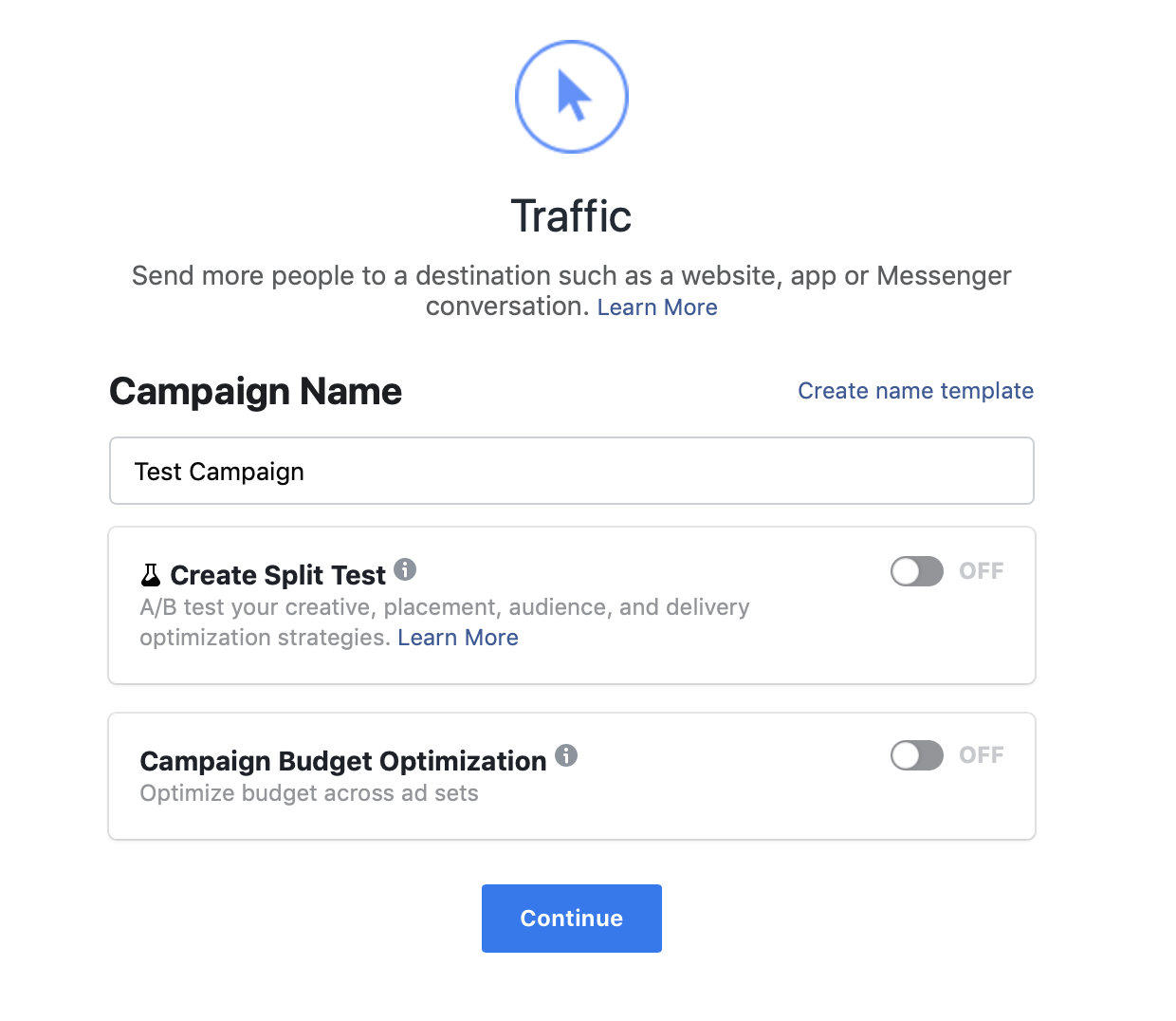 Naming campaign on ads manager