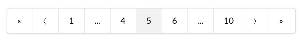 Semantic-UI react pagination component